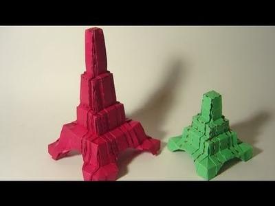 Origami Mini Eiffel Tower