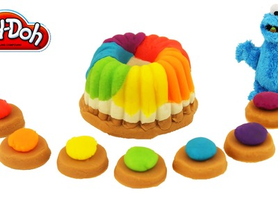 Play Doh Rainbow Toffee and Rainbow Cake Cookie make easy