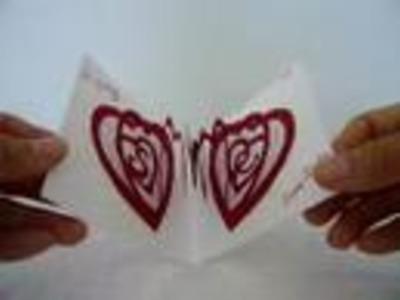 Pop-up Valentines day card: Original spiral heart
