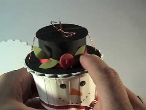Seasonal Saturdays - Snowman Treat Holder