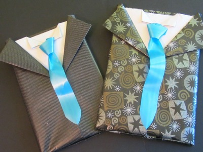 Tutorial: Envoltorio de regalo para caballero. Gift wrapping for men