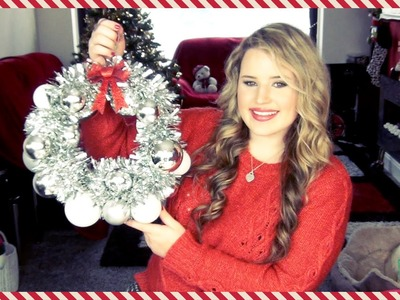 ❆ Christmas DIY Bauble Bauble & Tinsel Wreath! ❆