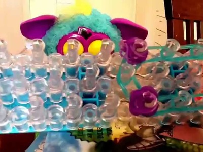 Create a Furby with rainbow loom
