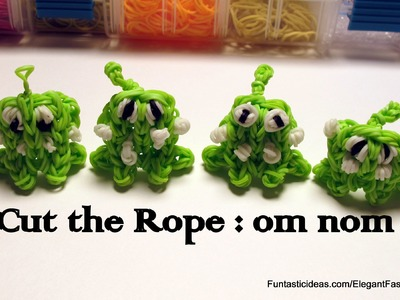 Cut the Rope:om nom Charm - How to Rainbow Loom