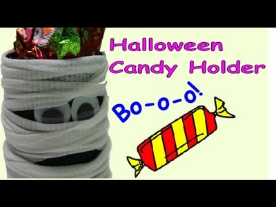 DIY Crafts for Halloween A Ghost Candy Holder - Recycled Bottles Crafts