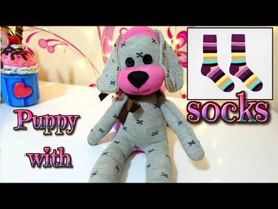 DIY: how to make a puppy dog with socks | easy crafts | Isa ❤️