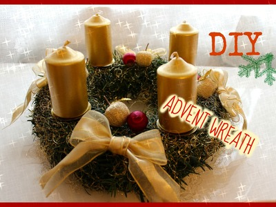 DIY ♡ HOW TO MAKE ADVENT WREATH | ADVENTNÍ VĚNEC | CHRISTMAS DECORATION