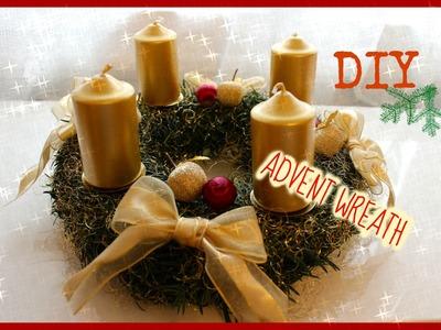 DIY ♡ HOW TO MAKE ADVENT WREATH | ADVENTNÍ VĚNEC | CHRISTMAS DECORATION