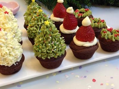 DIY Mini Holiday Christmas Brownies   bizarre island