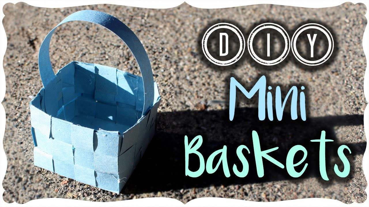 DIY Mini Paper Baskets
