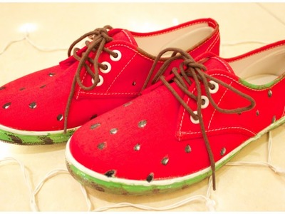 DIY: Watermelon Shoes
