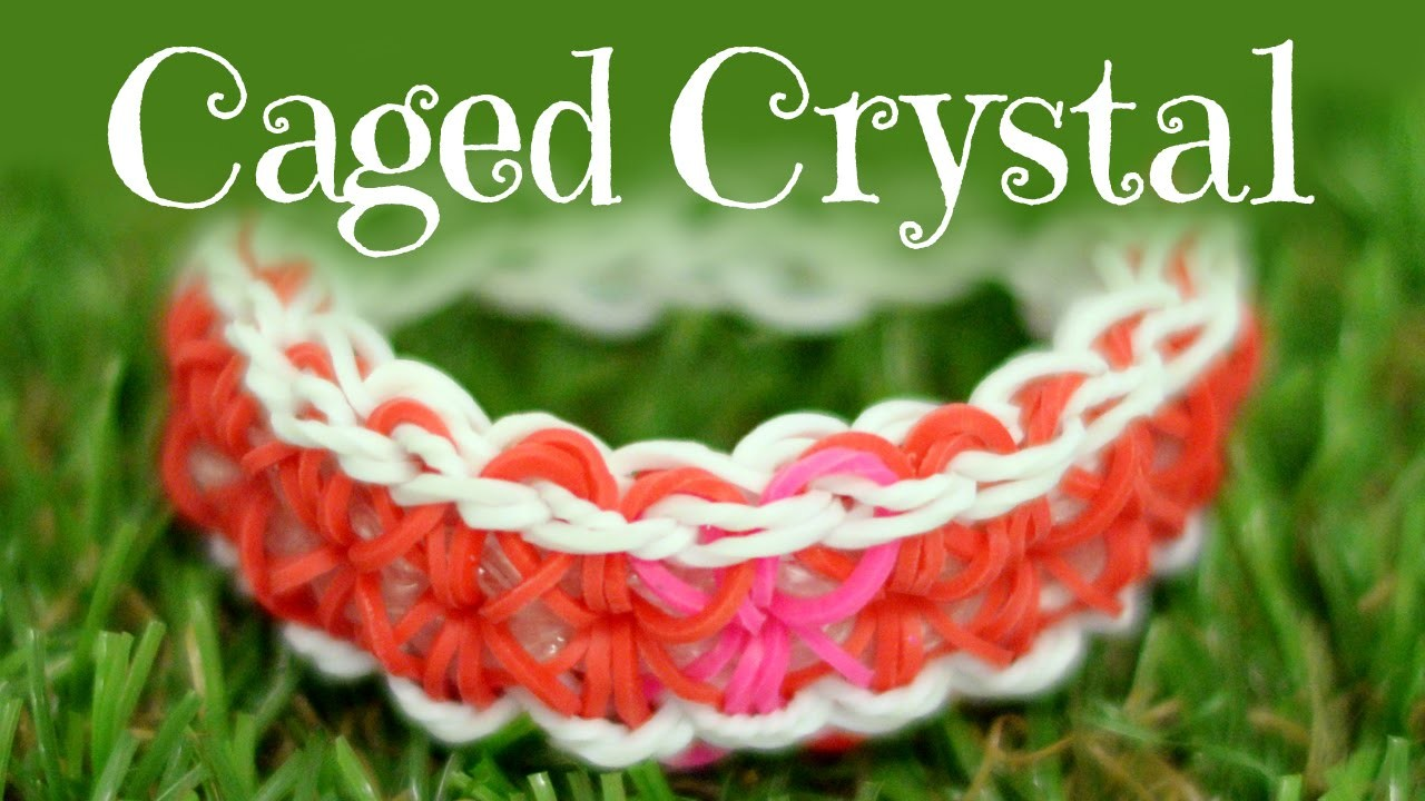 How to make a Caged Crystal Bracelet: Rainbow Loom Bracelet Tutorial