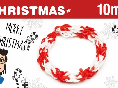 How to make a Christmas Candy Cane loom band bracelet