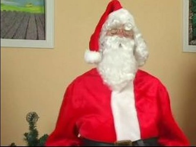 How to Make a Santa Claus Costume : How to Act Like Santa Claus