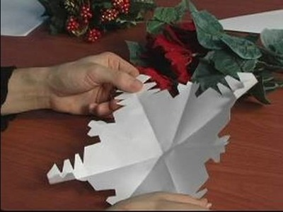 How to Make Paper Snowflakes for Christmas Decorations : How to Check Your Work on Paper Snowflakes