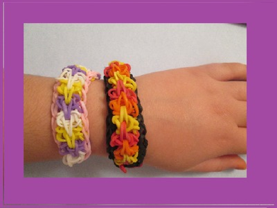 NEW Bursting Flames Rainbow Loom TUTORIAL