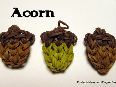 Rainbow Loom Acorn Charm - How to