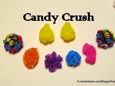 Rainbow Loom Candy Crush Saga Yellow Candy charm - How to