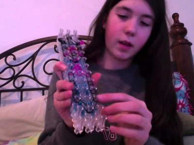 Rainbow loom cat  bracelet Meow!!