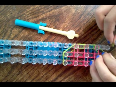 Rainbow loom watermelon charm-how to