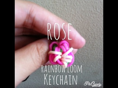 | Rose Rainbow Loom Keychain |
