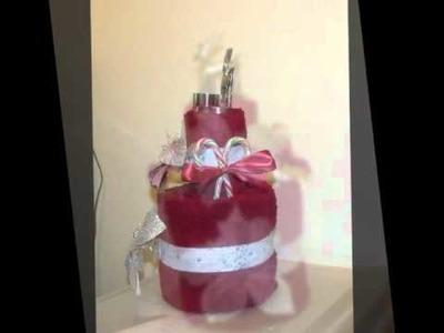 Towel cake christmas theme