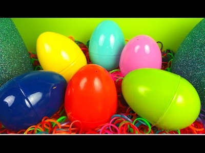 BIG Surprise Egg with nested color eggs Rainbow Loom band fun Disney Cars Mater  Mickey Mouse