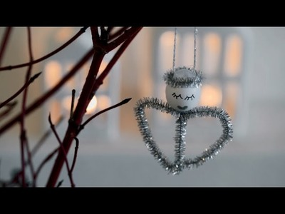 DIY: Angel Christmas ornaments by Søstrene Grene