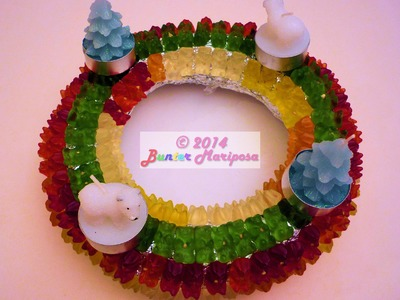 DIY Christmas Corona de adviento de gomitas. Advent wreath
