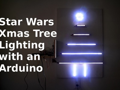 DIY Making a Christmas Tree w. an Arduino - Star Wars Lighting Pattern