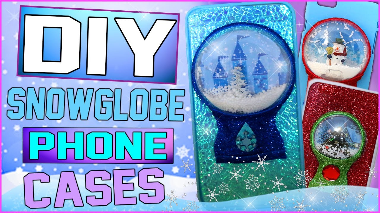 DIY Snow Globe iPhone Case! | 4 DIY Snowglobe Christmas Cases! | Holiday Phone Case Ideas!