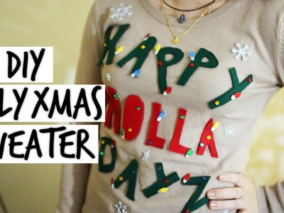 DIY Ugly Christmas Sweater || Collab with ImTaraMichelle