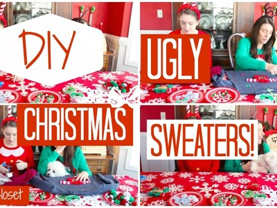 DIY Ugly Christmas Sweaters!