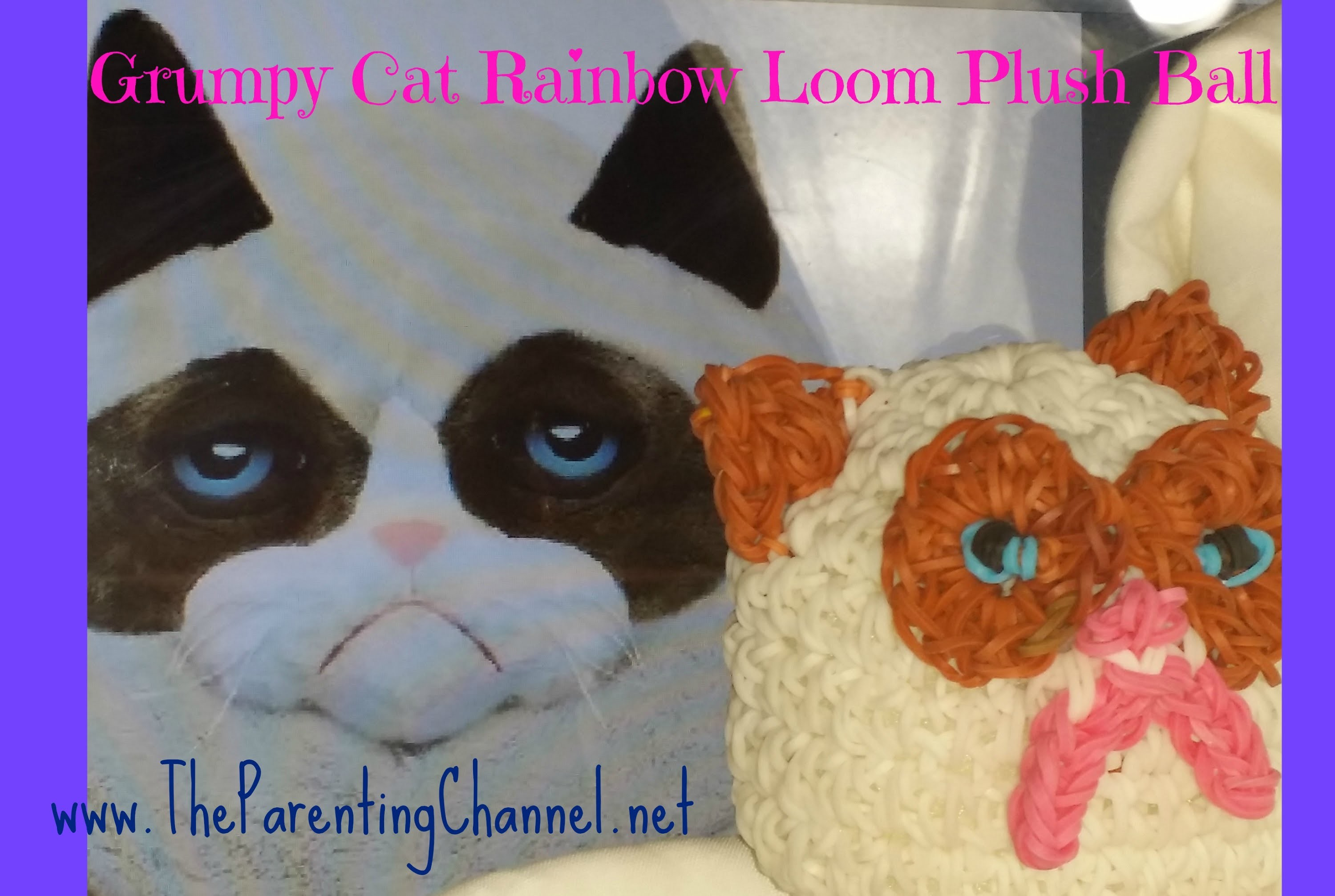 RAINBOW LOOM GRUMPY CAT PLUSH BALL GANZ