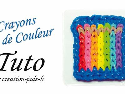 Tuto Rainbow Loom - Mural Crayons de Couleur !