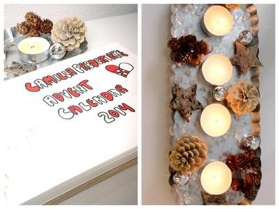 (ami's Advent Calendar 2014 | Dec 2, DIY Christmas Advent Wreath
