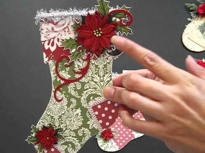 Christmas Stocking and Mitten Gift Card Holders with Mini tutorial
