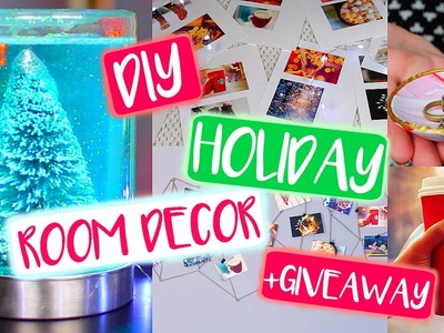 DIY Tumblr Holiday Room Decor! DIY Christmas + GIVEAWAY!