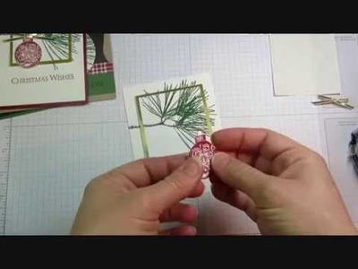 Double Layer Stamping: Ornamental Pine Christmas Card