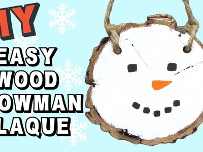 Easy Wood Snowman Plaque DIY   Craft Klatch Christmas Craft Series
