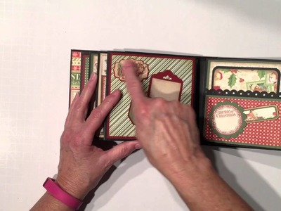 Graphic 45 Twas the Night Before Christmas and Core'dinations Cardstock Mini Album