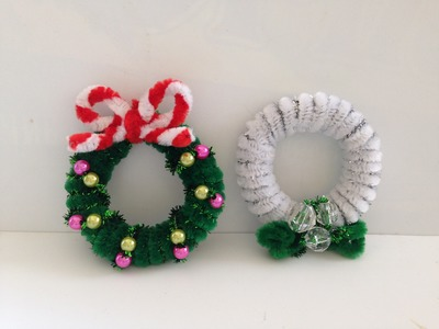 How to make a Pipe Cleaner Christmas Wreath 2