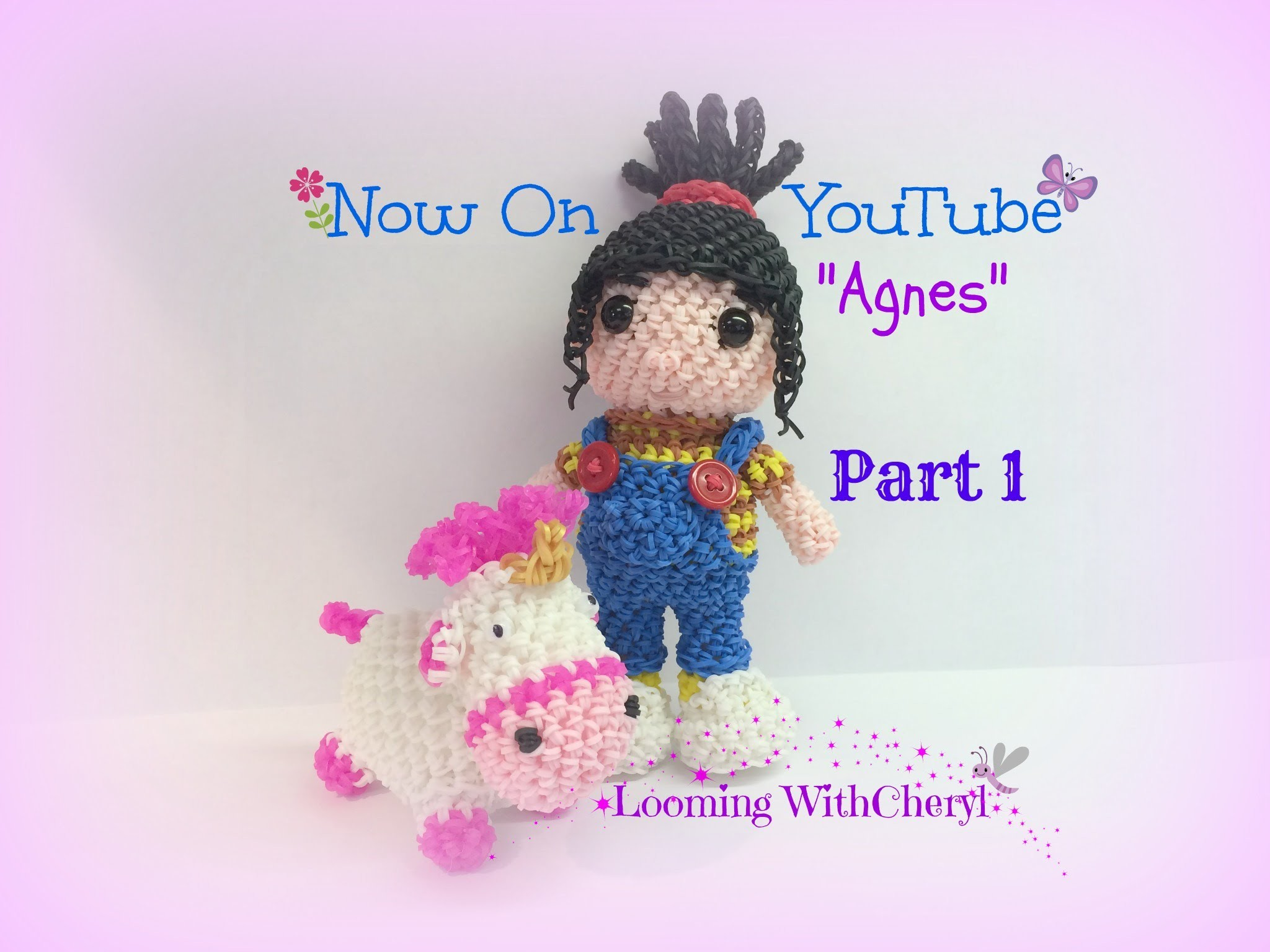 Rainbow Loom Agnes Doll Part 1 of 2 - Loomigurumi. Amigurumi Hook Only