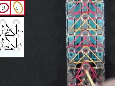 Rainbow Loom Delta Wing Bracelet Lección 2015