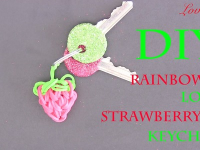 Rainbow Loom Denmark - Strawberry Keychain (Easy Tutorial)
