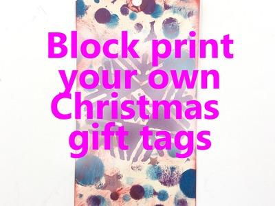Simple & easy Christmas crafts - handmade homemade gift tag ideas.