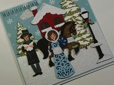 2014 #1 Fa La La La La Christmas Scene Card