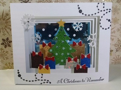 2014 #23 A Christmas to Remember Shadow Box Christmas Card