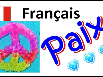 Bracelet Elastique. Rainbow Loom Francais : Paix. loom bands