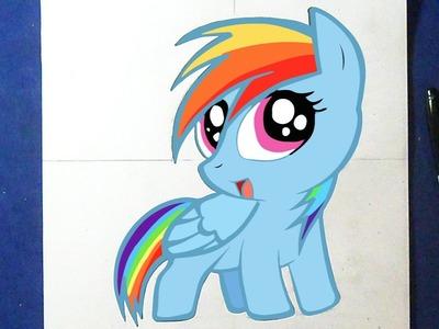 Como desenhar Rainbow Dash - My Little Pony